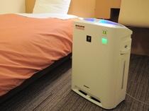 【禁煙室のみ】プラズマクラスター加湿空気清浄器を完備