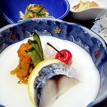 *夕食一例/新鮮で美味しい♪海の恵み、山の恵み。