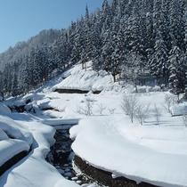 *冬の雪景色