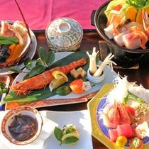 *【夕食一例/グレードUP】海鮮をふんだんに使った、色鮮やかな料理の品々