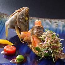 イサキと松葉蟹身焼き