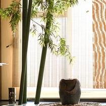 フロントには竹を♪日本人でよかった!