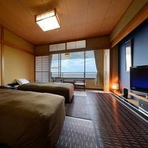 【504号室】 お部屋です!高台にある当館では、日本海が見渡せます♪