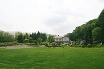 建物前の芝生