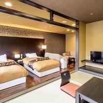 [瑠璃]:ツインルーム+4.5帖和室+リビング