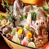 【料理】5F「藍の詩」客室ご利用 季節の舟盛」(季節により内容が異なります)
