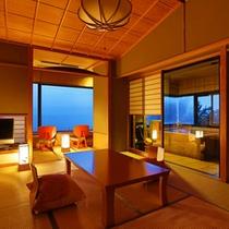 【部屋】特別室フロア「静の海」 特別室「三日月の間」