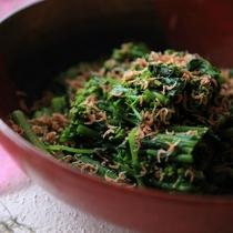 地野菜と桜海老の御浸し