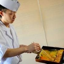 ★料理人が会場内で焼き上げる!「だし巻タマゴ焼き」★朝食バイキング !(写真は一例です。)