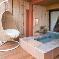 ■別邸うらら■スタンダード和洋室6畳タイプ 足湯つき露天風呂