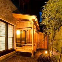 【露天風呂付客室】お庭の一例