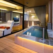 ■別邸うらら■デラックスルームの露天風呂一例