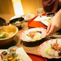 ■別邸うらら■当館自慢の季節感あふれるお料理をご提供いたします