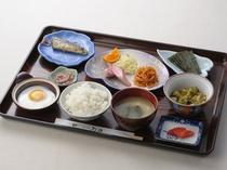 日替わり朝食(例2)健康バランスを考えた和定食です。