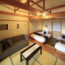露天風呂付和洋室(客室内の一例)