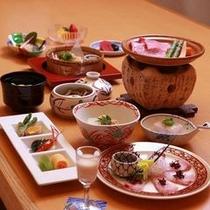 飛騨牛料理が付いた会席料理(一例)