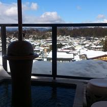 5階の足湯【冬】