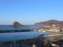 白山島と鳥海山のコラボ