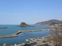 白山島と鳥海山