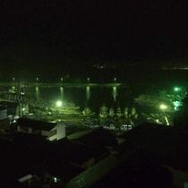 【夜景】お部屋から見える夜の港