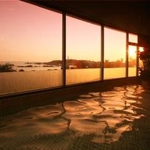 展望大浴場の夕景