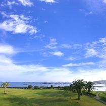 ホテルからの太平洋の眺め