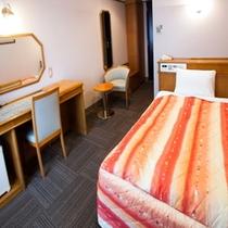 【シングルルーム】120cm幅ベッド、16~18平米、光有線LAN、空気清浄機あり