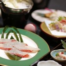 金目鯛のしゃぶしゃぶを中心としたお料理(一例)