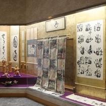 1階ロビーの展示美術品