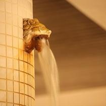 カルデラのライオン湯口