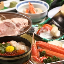 「ガーリックポーク&海鮮三種丼」の献立一例