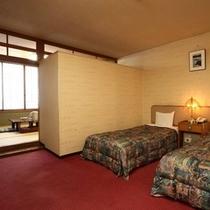 お部屋の一例(和洋室のベッドルーム)