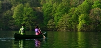 夏の十和田湖をカヌーで
