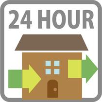 12:00チェックイン~12:00チェックアウトの24時間滞在OK♪
