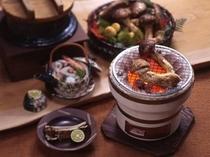 松茸の会席料理