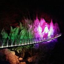 尾の内渓谷の氷柱ライトアップ(氷柱鑑賞期間中の土曜日の日没後にライトアップあり)