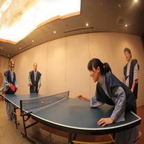 温泉といえば卓球。近くで見ていたお客様と卓球大会が始まることもしばしば!