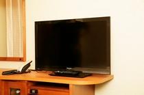 全客室に32インチの大型液晶テレビ設置。