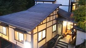 野沢温泉 信州サーモン、岩魚、鯉、鱒料理のお宿 ふぶき施設全景