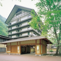 湯西川温泉 彩り湯かしき 花と華施設全景