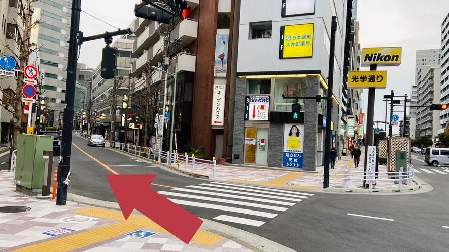 大井町駅からのご案内④