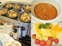 【朝食】新潟産のお米と人気のカレーに、郷土料理のっぺ汁やフルーツが充実★