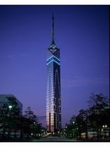 福岡タワーのライトアップ 提供:福岡市
