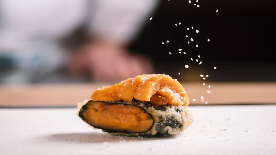 ■【蝦夷天ぷら鶴来】職人が目の前で調理いたします