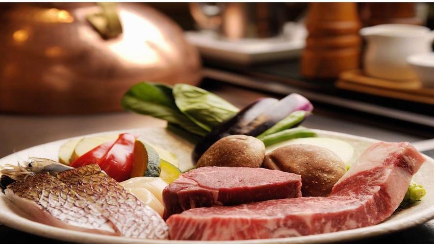 ■鉄板焼き【コタン】/味わえる食材は北海道十勝の美味しいものを