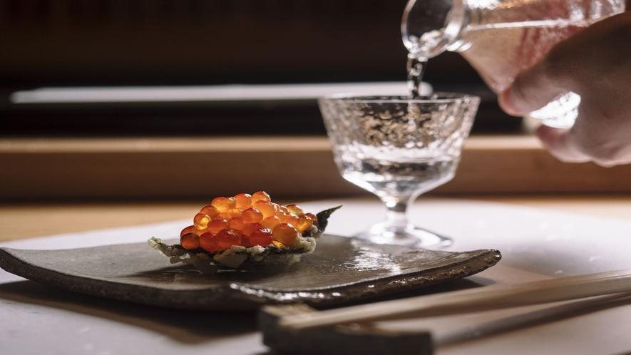 ■【蝦夷天ぷら鶴来】北海道の旬食材をコース料理で