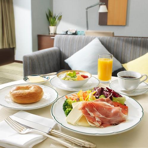 【朝食】ルームサービス(ローファットブレックファスト)
