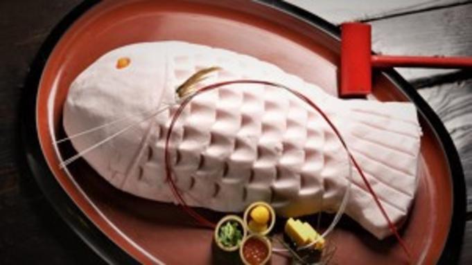 【家族の祝日】「花束&ケーキ」or「鯛料理」or「スパークリングワイン」/旬の会席「山ふかみ」