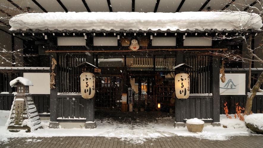 冬の正面玄関