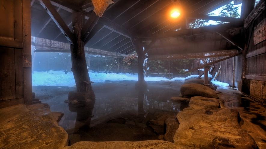 地下露天風呂「ゆ瞑み」法灯の湯~夜